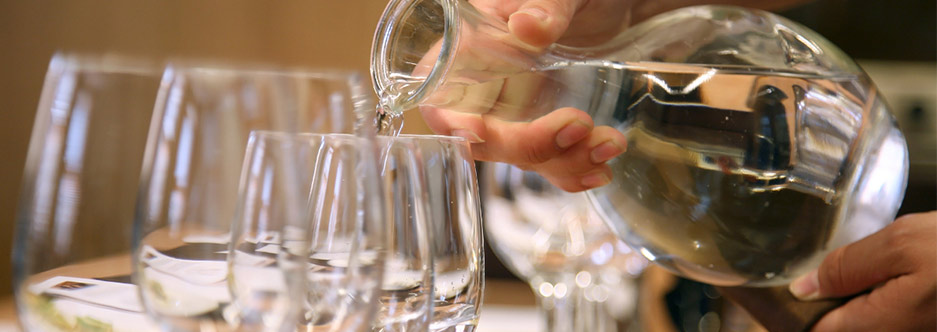 agua filtrada restaurante