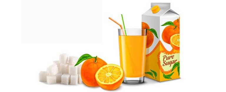azucar en zumos