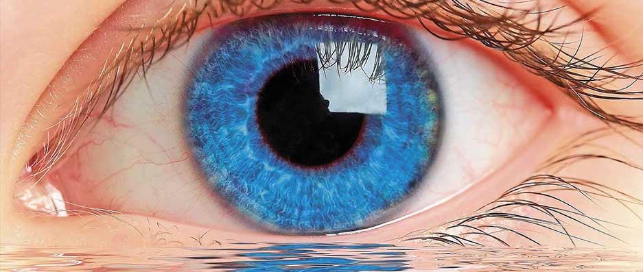 agua ojos